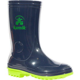 Kamik Pebbles Rubber Boots Toddlers navy lime